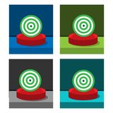 Target icon on the circle, stock icon. EPS file available. see more images related stock illustration