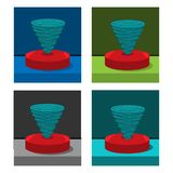 Tornado icon on the circle, stock icon. EPS file available. see more images related vector illustration