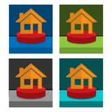 House icon on the circle, stock icon. EPS file available. see more images related stock illustration