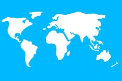 Colorful world map vector illustration