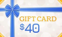 Gift Card, gift voucher - 40 dollars vector illustration