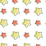 Seamless pattern with cartoon stars vector illustration