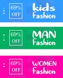 Stylish Banner Discount Sale For Bussines E Commerce or Online Shop vector illustration
