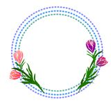 Web. text with tulip flower. Vector illustration EPS10 stock illustration