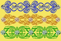 Openwork ornaments vector illustration
