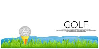 Vector Golf background. Golf stock banner royalty free illustration
