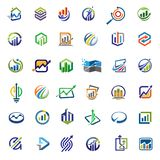 Marketing finance business logo concept vector illustration