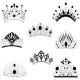 Web. CROWNS Antique and decorative royalty free illustration