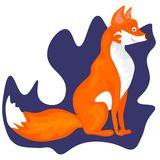 Web Fox - lovely illustration and card royalty free illustration
