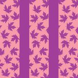 Background with lilac maple leaves vector illustration
