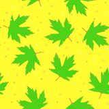 Background with green maple leaves royalty free illustration