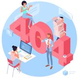 404 error page vector template.