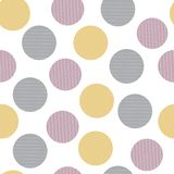 Abstract  stripes circle seamless pattern vector illustration