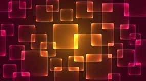 Square pattern has a light from the back as a background. stock illustration