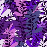 Abstract seamless pattern with tropical leaves. Hand draw texture. Vector template royalty free illustration