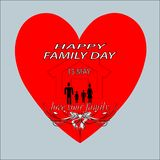 Web. A happy family day logo for love your family royalty free illustration