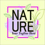 Nature frame logo template for sale royalty free illustration