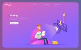 Phishing via internet isometric vector concept illustration stock illustration