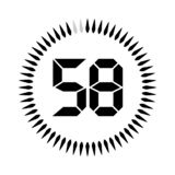 The minutes or seconds timer. The 50 minutes or seconds, stopwatch vector icon, digital timer. clock and watch, timer royalty free illustration