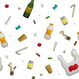 Trash pattern stock illustration