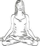 Lotus pose Yoga stock illustration