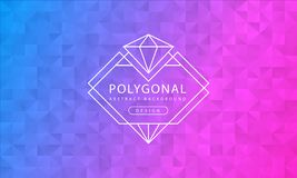 Abstract polygonal blue pink background texture, blue pink textured, banner polygon backgrounds, vector illustration. For graphic design vector illustration
