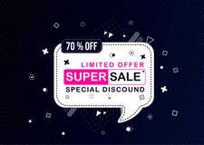 New concept sale or discount offer banner template design, Big sale special offer royalty free illustration