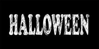 The inscription `Halloween` on a dark background. vector illustration