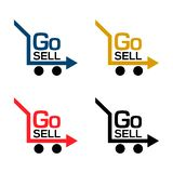 Go sell stock icons. Colorful set icon. label. vector. EPS file available. see more images related stock illustration
