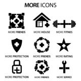More stock icons. Flat set icon. vector. Please see more images related vector illustration