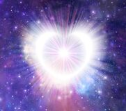 Glowing universal heart portal, infinite love, life, source, soul journey through Universe doorway
