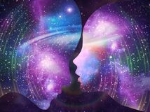 Human male, female bodies, Universe Inspiration Enlightenment Unity consciousness, Yin Yang, twin flames, cosmic lovers
