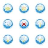 Web 2.0 ícones, jogo ilustração stock