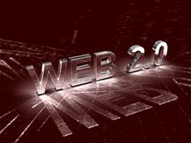 Web 2.0 Photographie stock