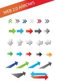 Web 2.0 arrows. A set of mixed web 2.0 arrows Royalty Free Stock Photos