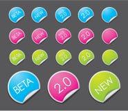 Web 2.0 Aufkleber Stockbild