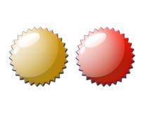 Web 2.0 Bescheinigungs-Dichtungs-Paare Stockfoto
