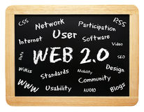 Web 2.0 blackboard Stock Image