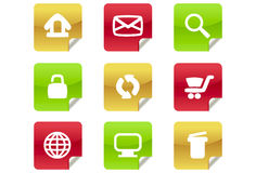 Web 2.0 and Blog Icons #1. A set of 9 internet icons and buttons Royalty Free Stock Photos