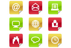 Web 2.0 and Blog Icons #2. A set of 9 internet icons and buttons Royalty Free Stock Photo