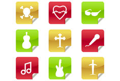 Web 2.0 and Blog Icons #6 - Rock / Heavy Metal / R. A set of 9 internet icons and buttons Royalty Free Stock Photo