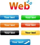 Web 2.0 boutons Image libre de droits