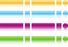 Web 2.0 boutons avec la réflexion Photographie stock libre de droits