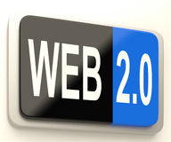 Web 2.0 Button Means Dynamic User WWW Royalty Free Stock Photos