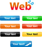 Web 2.0 buttons. A set of glossy web 2.0 buttons Royalty Free Stock Image