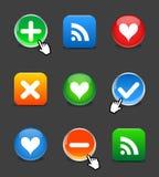 Web 2.0 buttons. Set Royalty Free Stock Photos