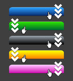 Web 2.0 buttons. Web 2.0 colorful buttons Stock Images