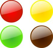 Web 2.0 buttons. Web 2.0 style buttons in four colors vector Royalty Free Stock Photography