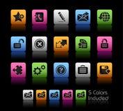 Web 2.0 de Reeks van // Colorbox Stock Foto
