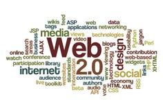 Web 2.0 - de Wolk van Word Stock Foto